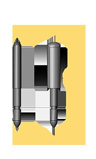 American Standard Short Front Rail Pin