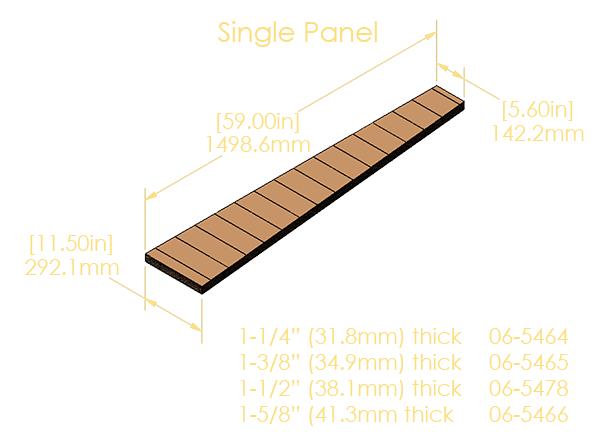 "Single Panel 5-Ply Pinblock (1.500""/38.1mm)"