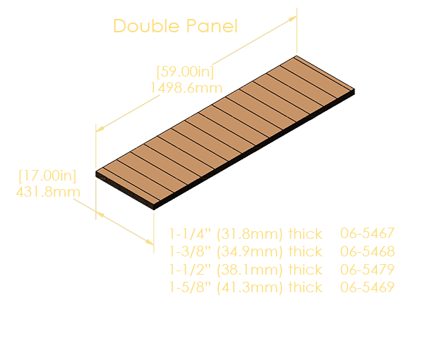 """Double Panel 5-Ply Pinblock (1.500""""/38.1mm)"""