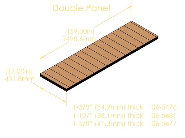 """Double Panel 7-Ply Pinblock (1.500""""/38.1mm)"""