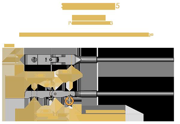 Steinway Type 5 Shank & Flange Set, Flex 2 (knuckles not attached)