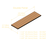 "Double Panel 5-Ply Pinblock (1.500""/38.1mm)"