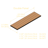 "Double Panel 7-Ply Pinblock (1.500""/38.1mm)"