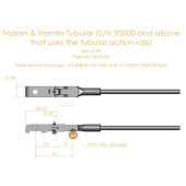 Mason & Hamlin Shank & Flange Set for Tubular Rail,