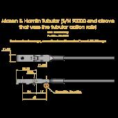 Mason & Hamlin Standard Shank for tubular rail, ea.,
