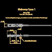 Steinway Type 1 Shank & Flange Set, Flex 2