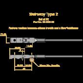 Steinway Type 2 Shank & Flange Set, Flex 2
