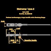 Steinway Type 3 Shank & Flange Set, Flex 2