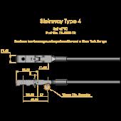 Steinway Type 4 Shank & Flange Set, Flex 2